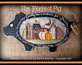 Apple Tree Cottage Original Design E Pattern - Perfect Pig