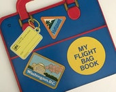 1978 My Flight Bag Book by Kathleen N. Daly - illustated by Yoshi Miyake - Golden Press -A Golden Carry Me Shape Book