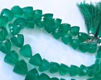 1/2 Strand green onyx trillions -- tanzanite color WHOLESALE PRICE 15.00