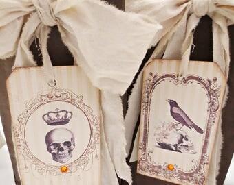 Halloween Decor, Halloween Party Favors, Halloween Wedding Favors, Gift Bags, Hostess Gift, Rustic Halloween Decor, Vintage Halloween Decor