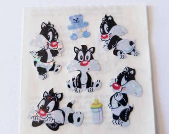 Vtg Sandylion Sticker Baby Looney Tunes 90's Sylvester the Cat Mod HTF Warner Brothers