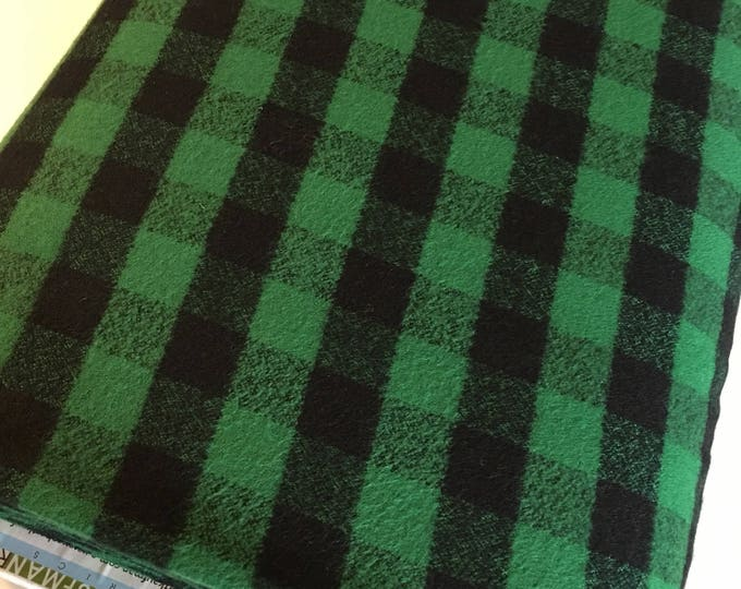 Green Plaid, Mammoth Plaid Flannel, Black Plaid, Lumberjack Party Flannel, Plaid Scarf fabric, Robert Kaufman, Mammoth Flannel in Green