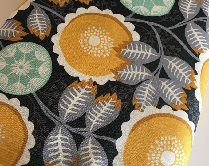 Florabelle by Joel Dewberry, Fabric Shoppe Fabric by the Yard, Mustard Gray Artisan Floral  in Tucson, Choose Your Cut