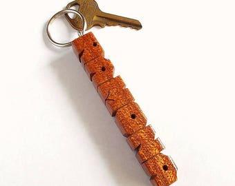 RAMONA - Sample Name Keychain in Mahogany Wood
