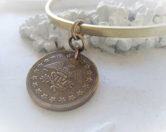 Antique Gold Token Pendant Coin Pendant No Cash Value Eagle Item No. 7935
