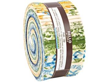 "Robert Kaufman VICTORIA GARDENS Roll Up 2.5"" Precut Fabric Quilting Strips Jelly Roll RU-666-40"