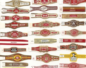 430 CIGAR BAND Labels -new old stock cigar bands 1930s+ TOBACCO Due to the continuing Ofac sanctions against Cuba origin of labels from u.s.
