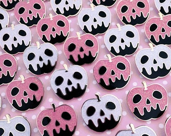 Limited Edition Variant Poison Black Apple Enamel Pin - Your Color Choice