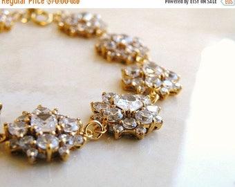 Summer Sale Bridal Bracelet Cushion CZ Gold Bracelet  IB1