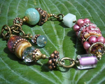 Spiny Oyster & Turquoise Silk Road Bracelet
