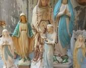 Amazingly fabulous Antique religious statue chalkware vintage mary vintage garden statue garden statue vintage statue Saint Ann Virgin Mary