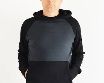 ON SALE Men's hoodie sweatshirt in organic cotton, men's clothing, men's hoodie,sweatshirts for men,organic clothing