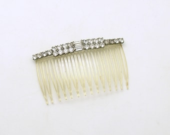 Vintage Hair Comb Rhinestones Side Comb Wedding Accessory