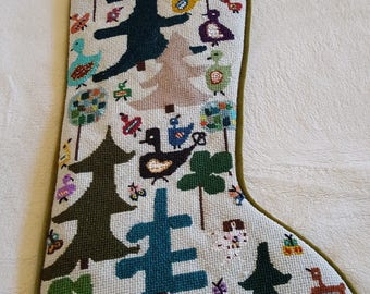 Christmas Hens custom stocking