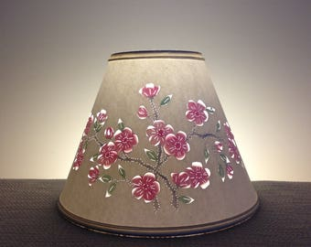 Apple Blossom Cut & Pierced Lampshade-Paper Lampshade-Cut and Pierced Lampshade-Apples-Blossoms-Handmade-Home and Living-Lampshades-Lighting