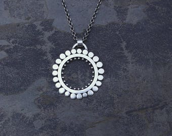 Modern Sunflower Pendant