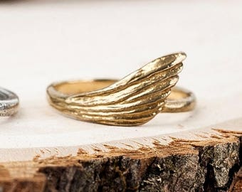 40% Off Bronze Freedom Ring   Wing Ring   Nature Inspired Jewelry  Bronze Statement Ring