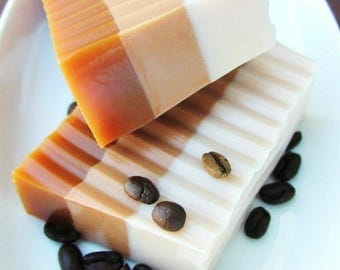Coffee Gift. Coffee Lovers Gift. Coffee Soap. Mocha Latte Coffee Soap. Coffee gift for her. Coffee gift for him. Stocking Stuffer. Co worker