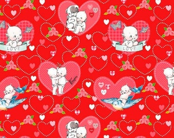 ON SALE Riley Blake Designs Kewpie Love - Main Red