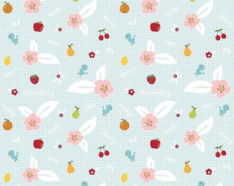 20EXTRA 20% OFF Riley Blake Designs Sweet Orchard Fruit Aqua