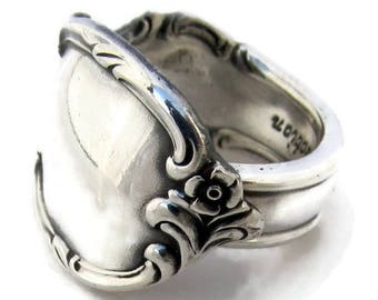 Silver Spoon Ring All Sizes Reflection 1959 Classic
