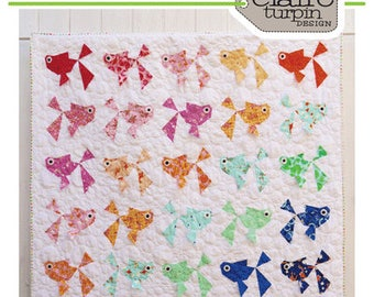 Goldies - paper piecing quilt pattern - by Claire Turpin Design #CT028