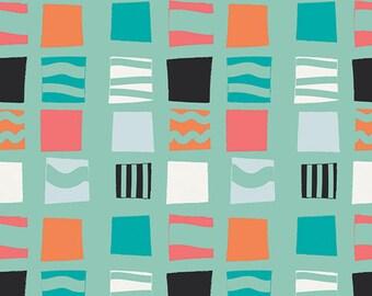 Block Stencils Burst Fabric