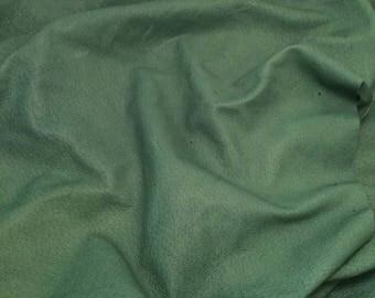 "DARK GREEN Suede Lambskin Leather Hide Piece #7 7x5"""