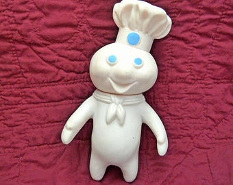 Vintage 1971 Soft Rubber Pillsbury Doughboy Collectible Doll