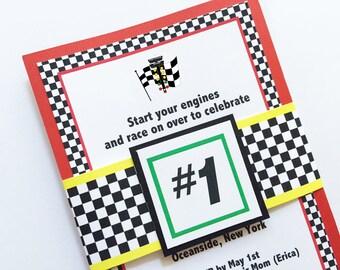 Race Car Invitations, Race Car Party, Car Birthday, invitation Auto Racing, Auto Racing Invite