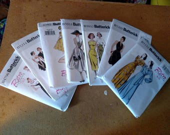 Vintage Dress Patterns Lot Butterick Retro Patterns Plus Size Lot
