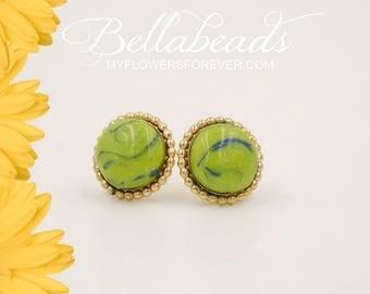 Memorial Beads, Flower Petal Jewelry, Memorial Jewelry, Memorial Gift Idea, Sadie Collection Earrings