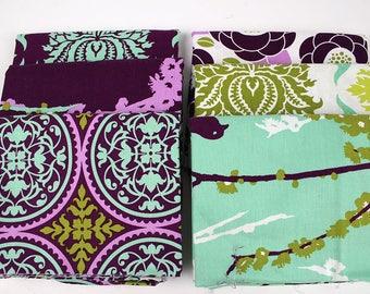 OOP Joel Dewberry Aviary half yard bundle in purple/blue, six half yards total