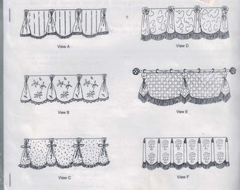 Craft Sewing Pattern M'Fay Patterns 9107 The Queen Ann Valances UNCUT