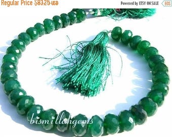 50% Off Sale Full 8 inches - Finest Quality Emerald Green Onyx Faceted Rondelles Size 8 - 9mm micro faceted rondelles