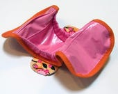 Ready to ship -  Postpartum Gusseted Cloth Menstrual Pad - wipeable menstrual pad shell with snapping wings and ice pack pocket - Flora
