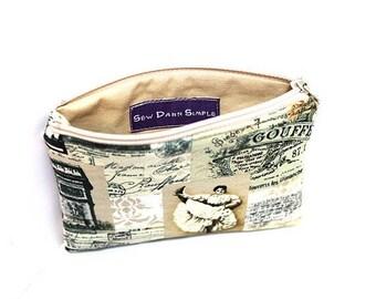Summer Clearance Pocket Zipper Case, Change Purse, Card Case, Coin Purse, French Memorabilia 8656