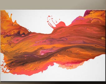 Abstract Canvas Art Painting Canvas 36x24 Original Contemporary Wall Art Paintings by Destiny Womack - dWo - Sunset