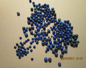 200 Plus Beads of Lapis, Sodalite and Malachite with Azurite    free shipping