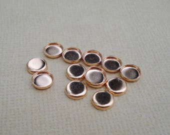 5mm Rose Gold Bezel Settings Low Wall Closed Back (12 pieces)
