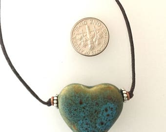 Porcelain Heart Necklace