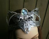 Gothic Steampunk Labradorite Dragonfly and Bee With Wings Crown Headpiece
