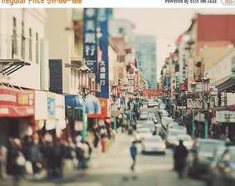 SALE Chinatown San Francisco photography, city street, urban decor, loft, dreamy, chinese, asian, California travel, photo, Myan Soffia, lan