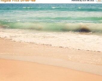 SALE beach photography, seascape, landscape photograph, sea glass green blue, summer vacation, California style, mint green art print, ocean