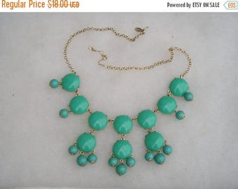 ON SALE Ily Couture Turquoise Blue Statement Necklace