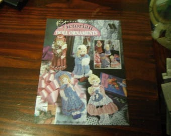 Plastic Canvas Patterns Victorian Doll Ornaments Annie's Attic 87O74 Plastic Canvas Leaflet