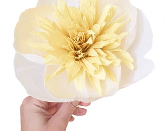 Japanese or Anemone Peony: Handmade Crepe Paper Flower