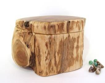 Pacific Yew Wooden Box, keepsake box, cremation urn, pet memorial urn, valet box, wooden jewelry box, wood art, 5th wedding anniversary