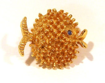 Fish Brooch with Burr Fins