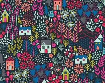 Kitty Garden Multi  - Kitty - Makower UK - Andover Fabric - 100% Quilters Cotton TP1915S